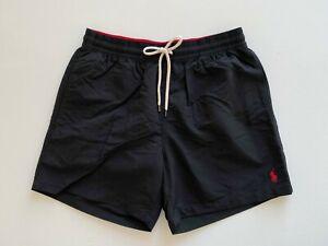 Polo-Ralph-Lauren-Mens-Designer-5-1-2-034-Traveler-Board-Shorts-Swim-Trunks-Black-L
