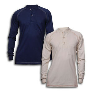 Details about FR Clothing Shirts Flame Resistant Henley Cotton Industrial  Work Uniform REED