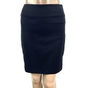 HELMUT-LANG-Black-Above-Knee-Length-Stretch-Career-Dressy-Pencil-Skirt-Womens-2