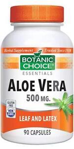 Botanic-Choice-Aloe-Vera-500-mg-90-Capsules-free-shipping