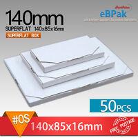 50 0s Superflat 140x85x15mm Large Letter Size Mailing Box Rigid Envelope