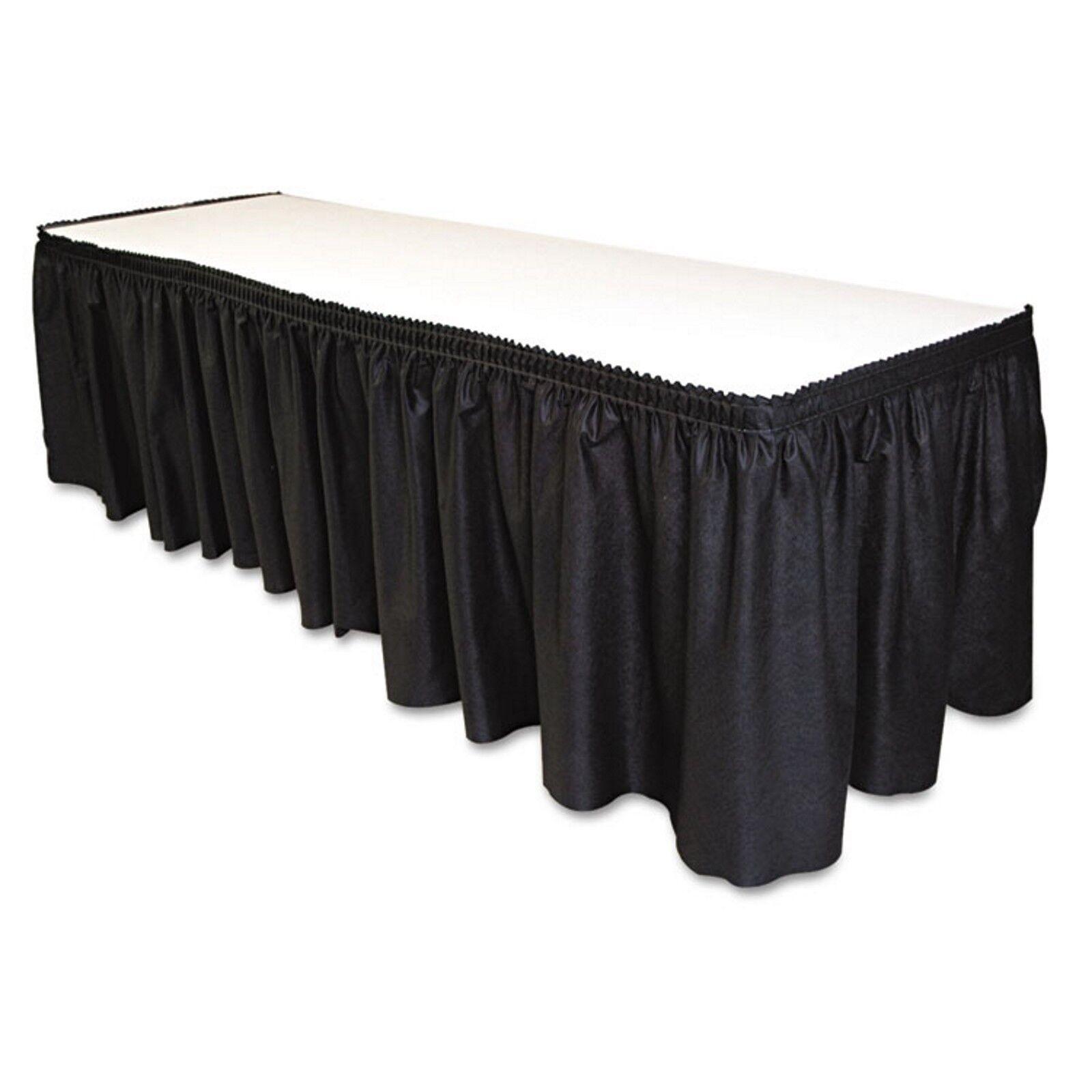 14'x29  - noir lin comme doux tableau Jupe non tissé-polyester nylon mélangé 1 CASE