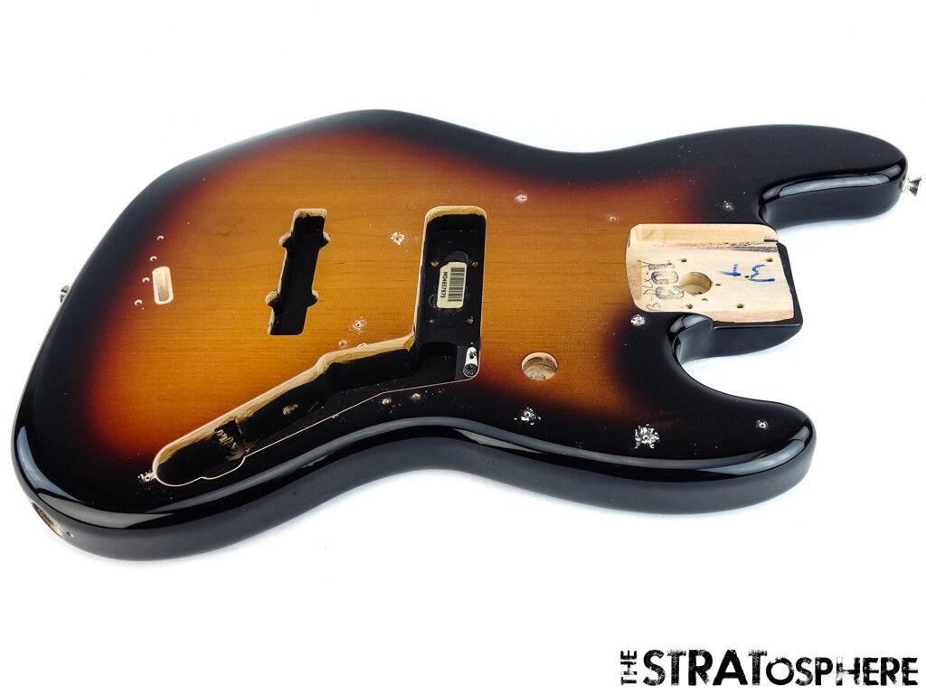 2018 Fender Deluxe Active Jazz Bass V 5 String BODY 3 Farbe Sunburst SALE