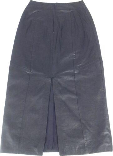 UNICORN LONDON Womens Real Leather Skirt Black BRAND NEW #6S