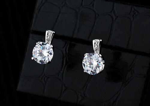 Lujo señora aretes pendientes cristal trébol joyas regalo de Navidad