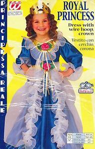 Abito-Vestito-Costume-CARNEVALE-PRINCIPESSA-REALE-3-4-ANNI-ROYAL-PRINCESS