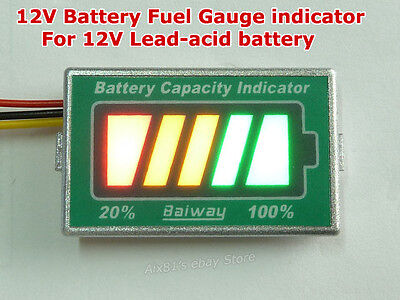 12V Lead-acid battery Capacity Tester Car Motorcycle Golf Cart Gauge Indicator