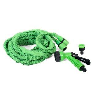 Manguera extensible con accesorios color verde