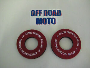 APICO-FACTORY-RACING-HANDLEBAR-GRIP-DONUTS-DONUTZ-NO-BLISTERS-EASY-FIT-RED