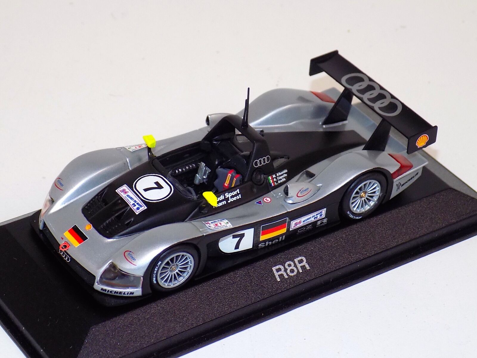 1 43 Minichamps Audi R8R car Hours of LeMans Dealer Edition