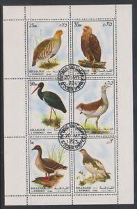 Sharjah - 1972, Oiseaux Feuille-cto-afficher Le Titre D'origine