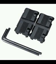 "1 Pair Picatinny 11mm Dovetail To 7/8"" 20mm Weaver Rail Adapter Rifle Gun Mount"