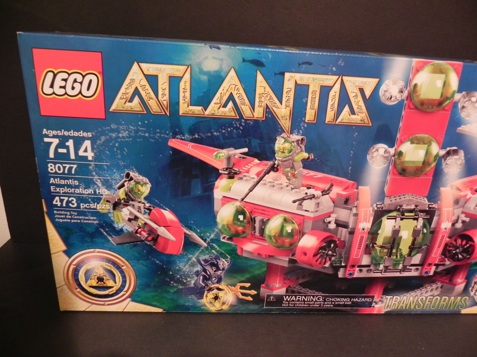 LEGO 8077 ATLANTIS EXPLORATION HEADQUARTERS 473 Pieces NEW in Sealed Box - WOW