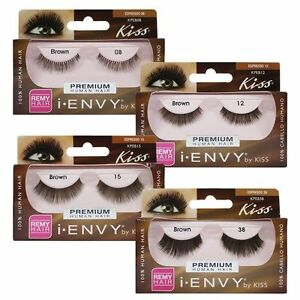 85f83d01234 Pick 1*I Envy by Kiss Brown 100% Human Remy Hair Premium Eyelashes ...
