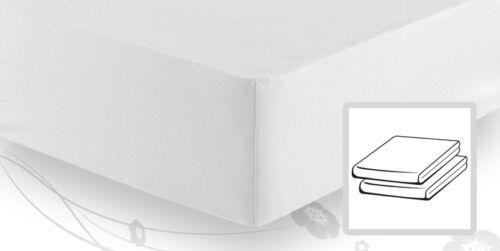 Schlafgut Elastic-Jersey Spannbetttuch Spannbettlaken für BOXSPRINGBETT 140x200