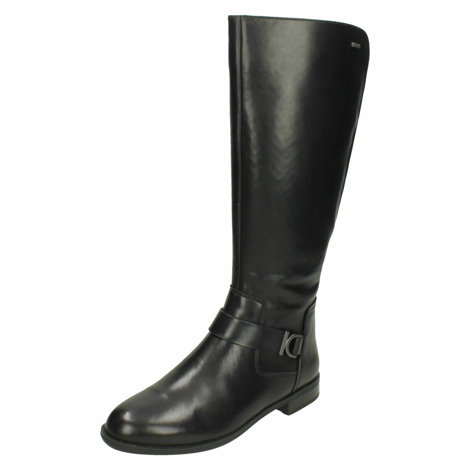 Grandes zapatos con descuento Clarks Ladies Zip Up Knee High Leather Boots - Mint Treat