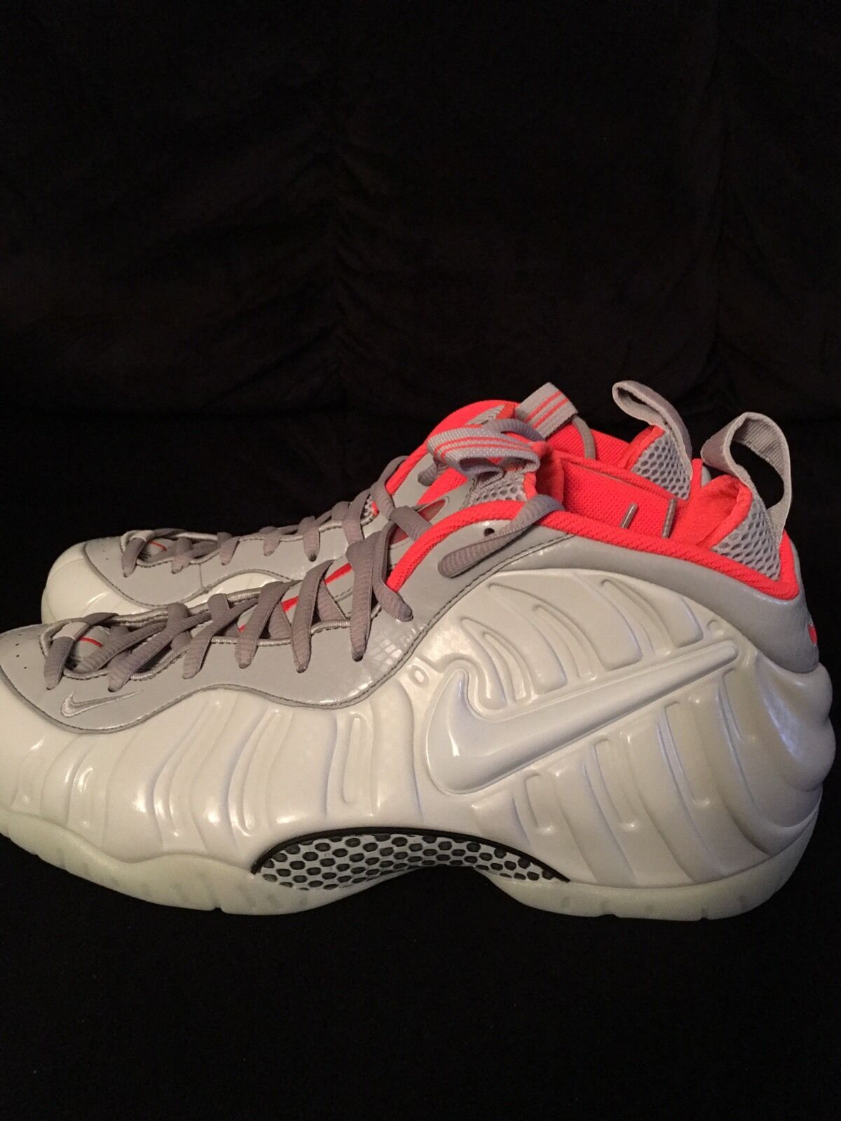 Nike Foamposite Pro Pure Platinum GITD foams Price reduction 616750-003 Comfortable New shoes for men and women, limited time discount