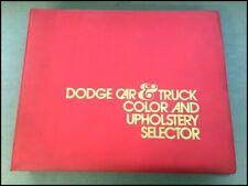1973 Dodge Data Book Brochure Paint Fabric Album Challenger Charger Dart Monaco