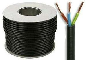 5 METERS 3 CORE 13 AMP ELECTRICAL MAINS CABLE BLACK FLEX 1.5MM 240 VOLT
