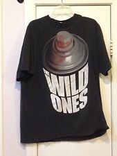 The Wild Ones - Spray Can Design TWO Size XL black Tshirt Used