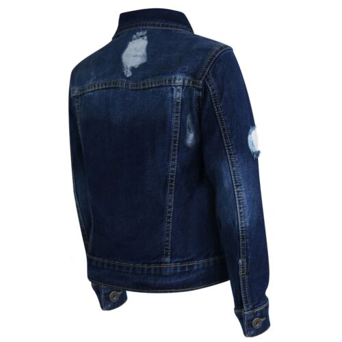 Kinder Jungen Denim Designer Jacke Zerrissene Jeans Mode Mantel Alter 3-13 Jahre