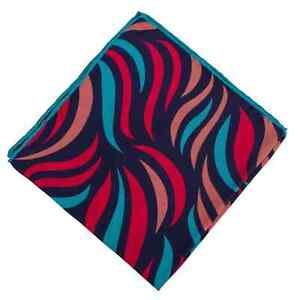 Men/'s 100/% Silk Pocket Square The Toshima