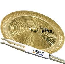 """Paiste PST 3 China Becken 18"""" + 5A Keepdrum Drumsticks"""
