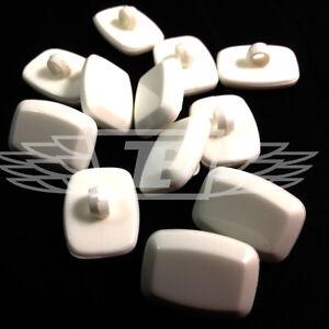 Amical Pack De 10, 22 X 16 Rectangle Blanc Bouton En Plastique Boutons à Coudre Btn (28051-36)-afficher Le Titre D'origine Pour AméLiorer La Circulation Sanguine
