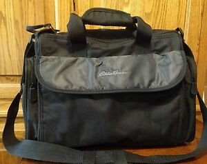 ab36229719 Details about Black Eddie Bauer Duffle Bag Tote Very Durable High Quality  Bag Sport Overnight