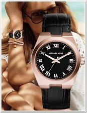 Michael Kors Uhr Damenuhr MK2358 Channing Leather  Black/Rose Gold NEU!