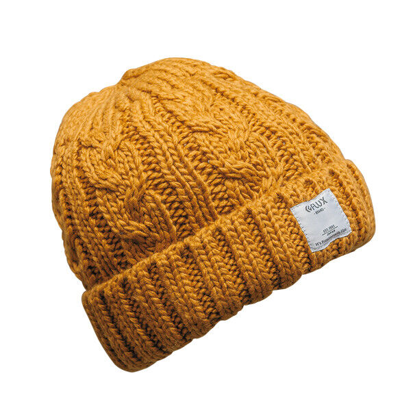 FLUX Snowboarding Bindings TWIST CAP HAT UNISEX WINTER MUSTARD VINTAGE SNOW