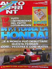 AUTOSPRINT n°36 1993 Torna la Honda in F1 - Accordo Lotus Mugen   [P69]