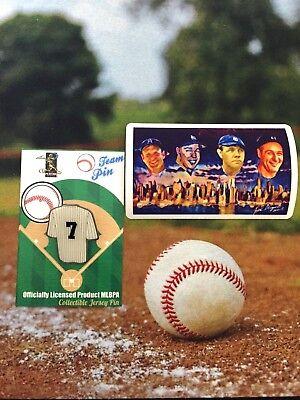 Sport Baseball & Softball Babe & Lou Patch-4 Angenehm Bis Zum Gaumen AnpassungsfäHig New York Yankees Mickey Mantle Pin-flagge & Legenden Joe