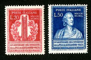 Italy Stamps # 526-7 F-VF OG NH Set of 2 Scott Value $97.50