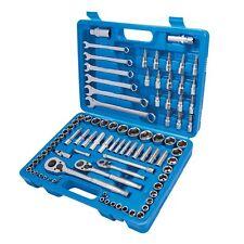 Silverline Mechanics Tool Set 90 Piece Ratchet Socket Spanner Set