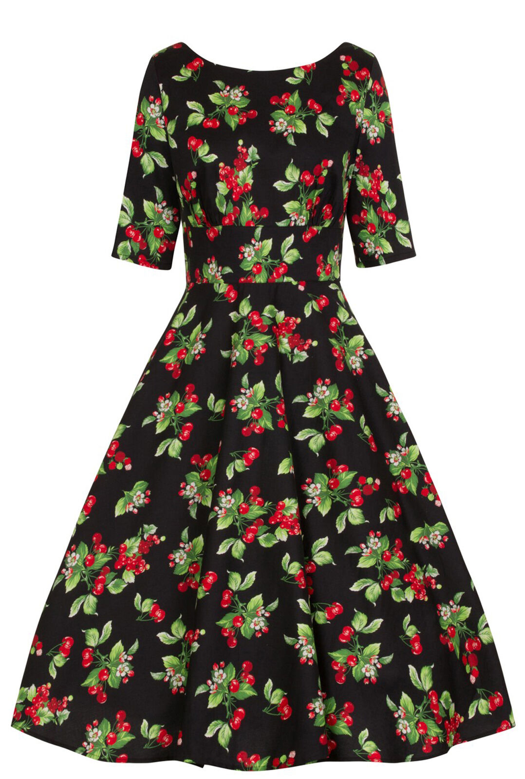 Hell Bunny CHERIEE Kirschen CHERRY Vintage Swing Dress Plus Größe Rockabilly
