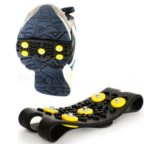 1 Pair Snow Anti Slip Crampon For Boots Shoes Grips Spikes Ice Grippers Hiking