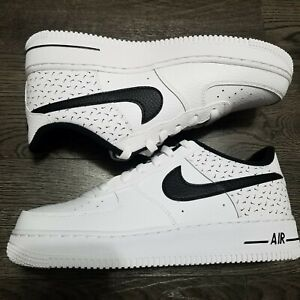 Details about NIKE Air Force 1 Low '07 White Black Swooshfetti Print Shoes GS 7Y Womens 8.5