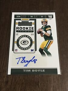 2019-Contenders-Rookie-Ticket-AUTO-Tim-Boyle-RC-294-Green-Bay-Packers-Rookie