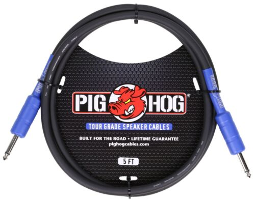 5' Speaker Cable  1/4'  14 Gauge Wire  High Performance PHSC5 Pig Hog