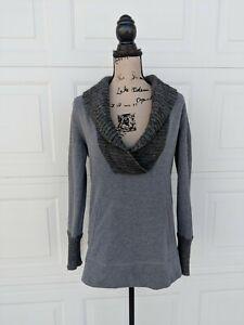 Ann-Taylor-LOFT-Alpaca-Wool-Shawl-Collar-Chunky-Cable-Knit-Pullover-Sweater-sz-S