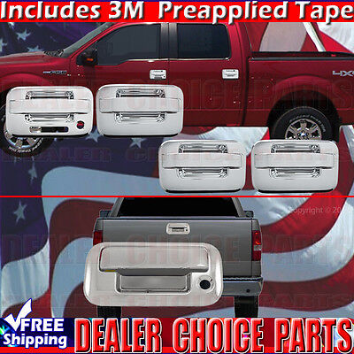 For 2004-2014 Ford F-150 F150 4DR Mirror Chrome Door Handle Cover Keypad Hole
