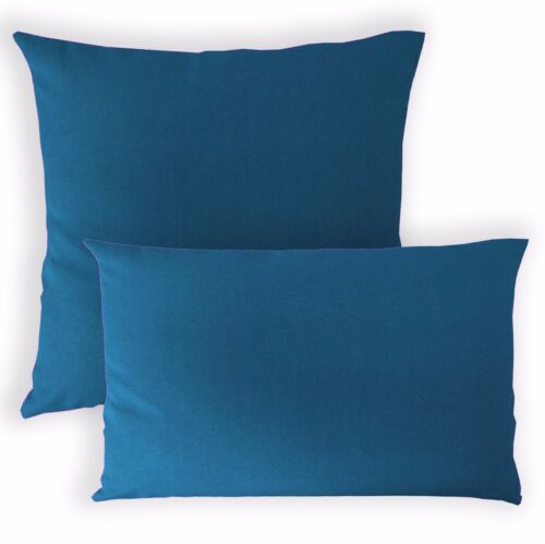 Aa201a Foncé Bleu Turquoise en Toile Coton Coussin Housse//taie d/'oreiller Taille personnalisée *