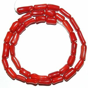 CRL288-Red-Coral-9mm-11mm-Freeform-Round-Branch-Tube-Beads-15-034