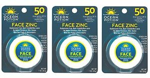 1 oz Ocean Potion Suncare Face Clear Zinc Oxide SPF 50 Signature Club A 5 Essentials Creme for Face & Eyes with Plant Stem Cell Complex