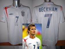 Inghilterra Beckham Coppa del Mondo 06 SHIRT JERSEY FOOTBALL CALCIO UMBRO Adulti L Man Utd
