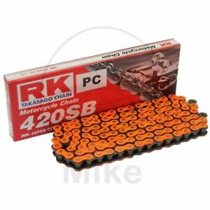 RK-STD-ORANGE-420SB-112-CHAINE-AGRAFE-YAMAHA-50-DT-MX-1982-1989