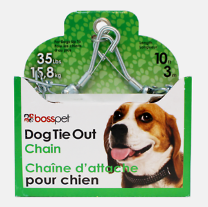 PDQ-Boss-Pet-10-039-DOG-TIE-OUT-CHAIN-Silver-Steel-SMALL-MEDIUM-Size-35-lbs-27210