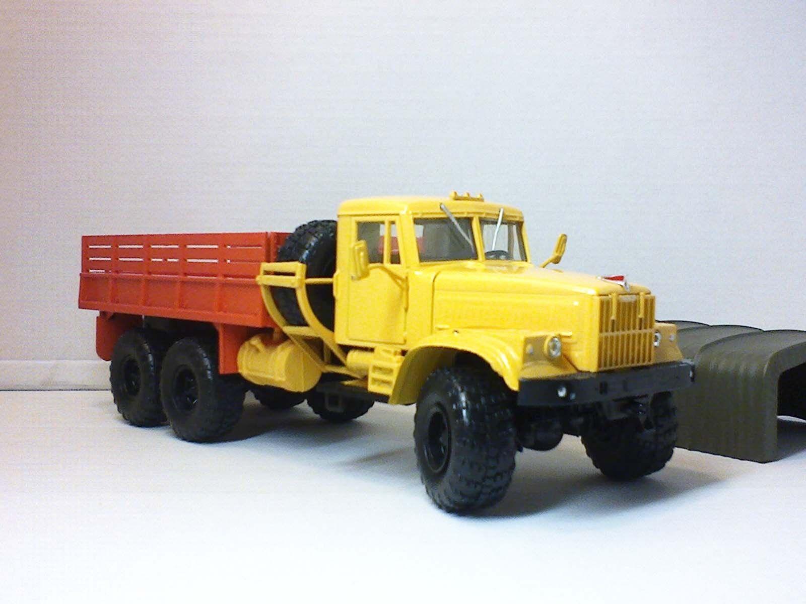 Handmade 1 43 Kraz 255B 1969 Conversion pivotant roues avant URSS camion 6x6