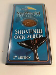 Seaworld-Souvenir-Penny-Coin-Collecting-Album-With-10-Elongated-Pennies